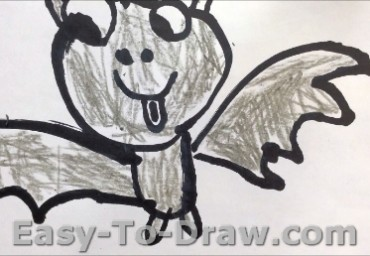 How to Draw Bat for Kids