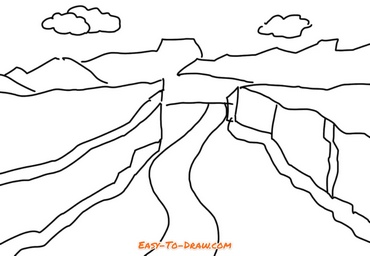 How to draw Grand Canyon