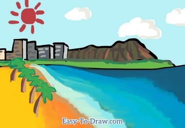 How to draw Hawaii