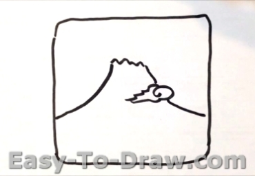 How to draw Mount Fuji 01