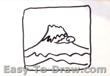 How to draw Mount Fuji 02