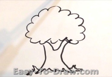 How to draw apple tree 02