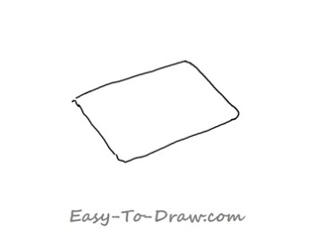 How to draw bed 01