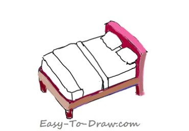 How to draw bed 04