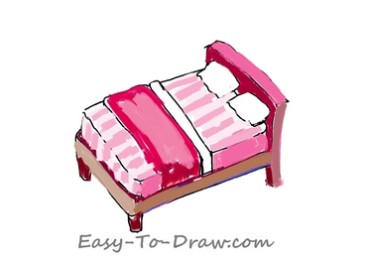 How to draw bed 05