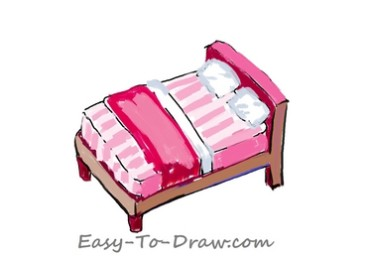 How to draw bed