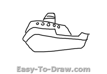 How to draw boat 02