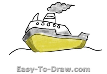 How to draw boat 04