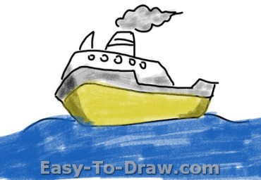 How to draw boat 05