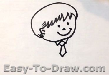 How To Draw A Cartoon Boy With Thumbs Up Easy To Draw Com
