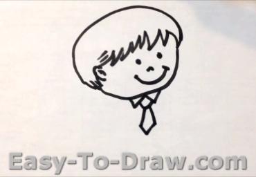 How to draw boy 03