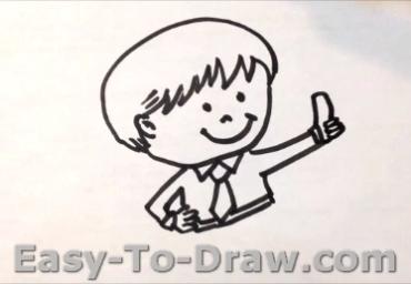 How to draw boy 04