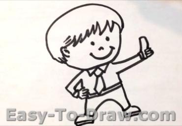 How to draw boy 05