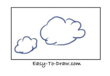 how to draw easy clouds