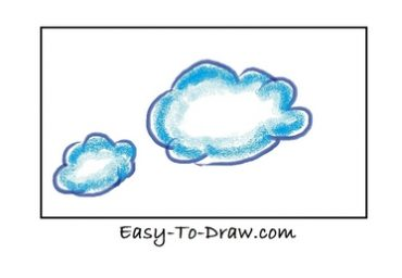 how to draw a cartoon cloud step by step