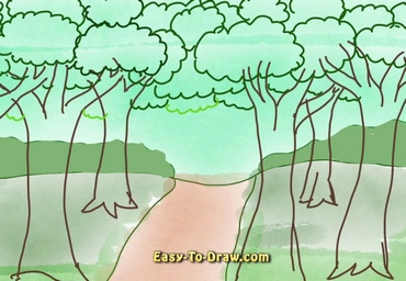 How to draw forest