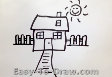 How to draw garden 05