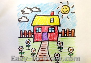 Flower Garden Drawing how to draw a cartoon flower garden for kids » easy-to-draw