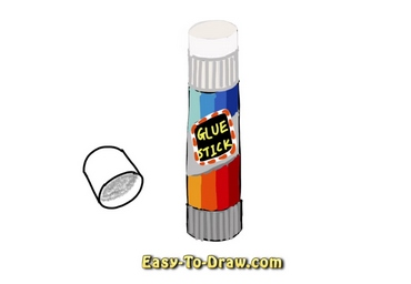 How to draw glue stick