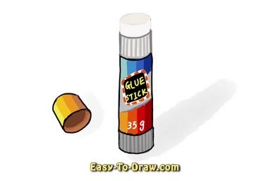 How to draw glue stick