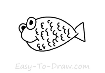 How to draw goldfish 03