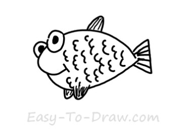 How to draw goldfish 04