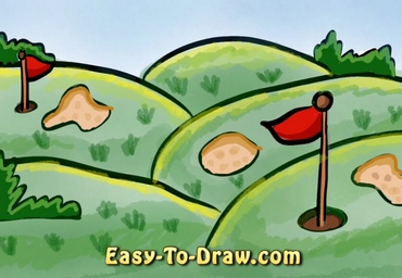 How to draw golf course