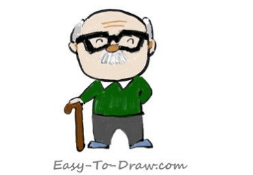 How to draw grandpa