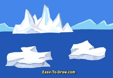 How to draw iceberg