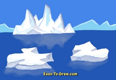 How to draw iceberg