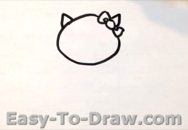 How To Draw A Cartoon Kitty Cat Hello Kitty For Kids Easy To