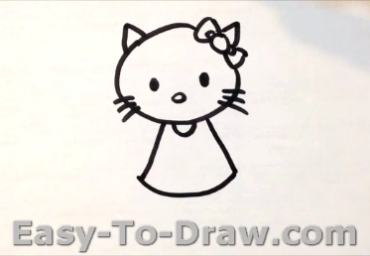 How to draw kitty cat 03