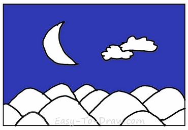 How to draw moon
