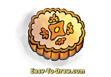 How to draw mooncake