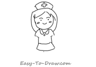 How to draw nurse 03