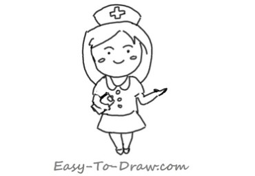 How to draw nurse 04