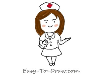 How to draw nurse 05