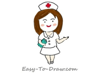 How to draw nurse 06