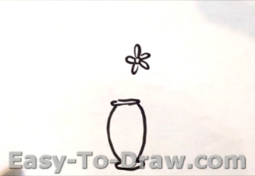 How to draw potted flowers 02