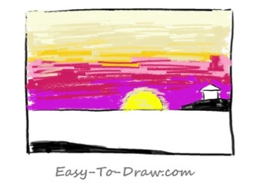 How to draw sunset 03