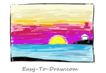 How to draw sunset 04