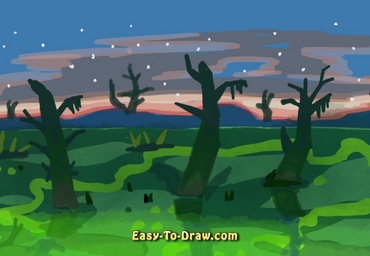 How to draw swamp