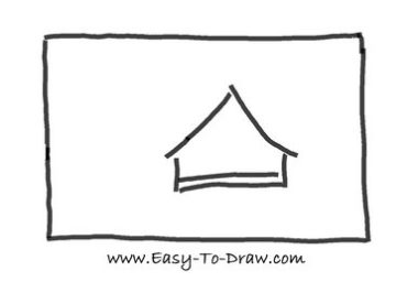 How to draw tent 01