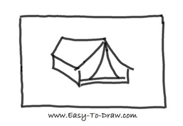 How to draw tent 03