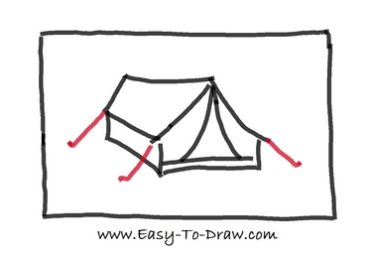 How to draw tent 04