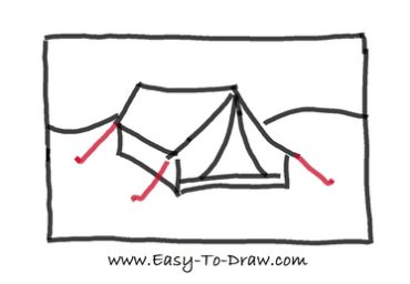 How to draw tent 05