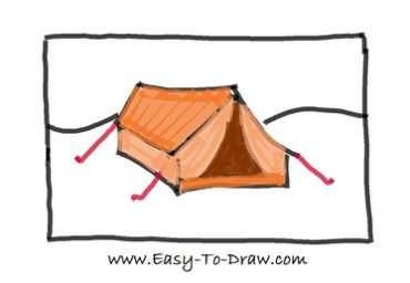 How to draw tent 06