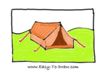 How to draw tent 07