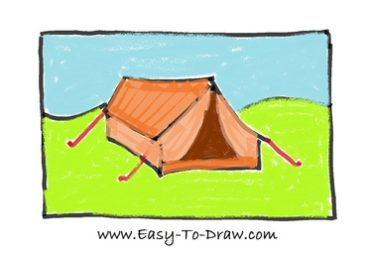 How to draw tent 08