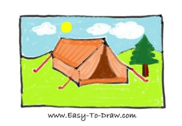 How to draw tent 10